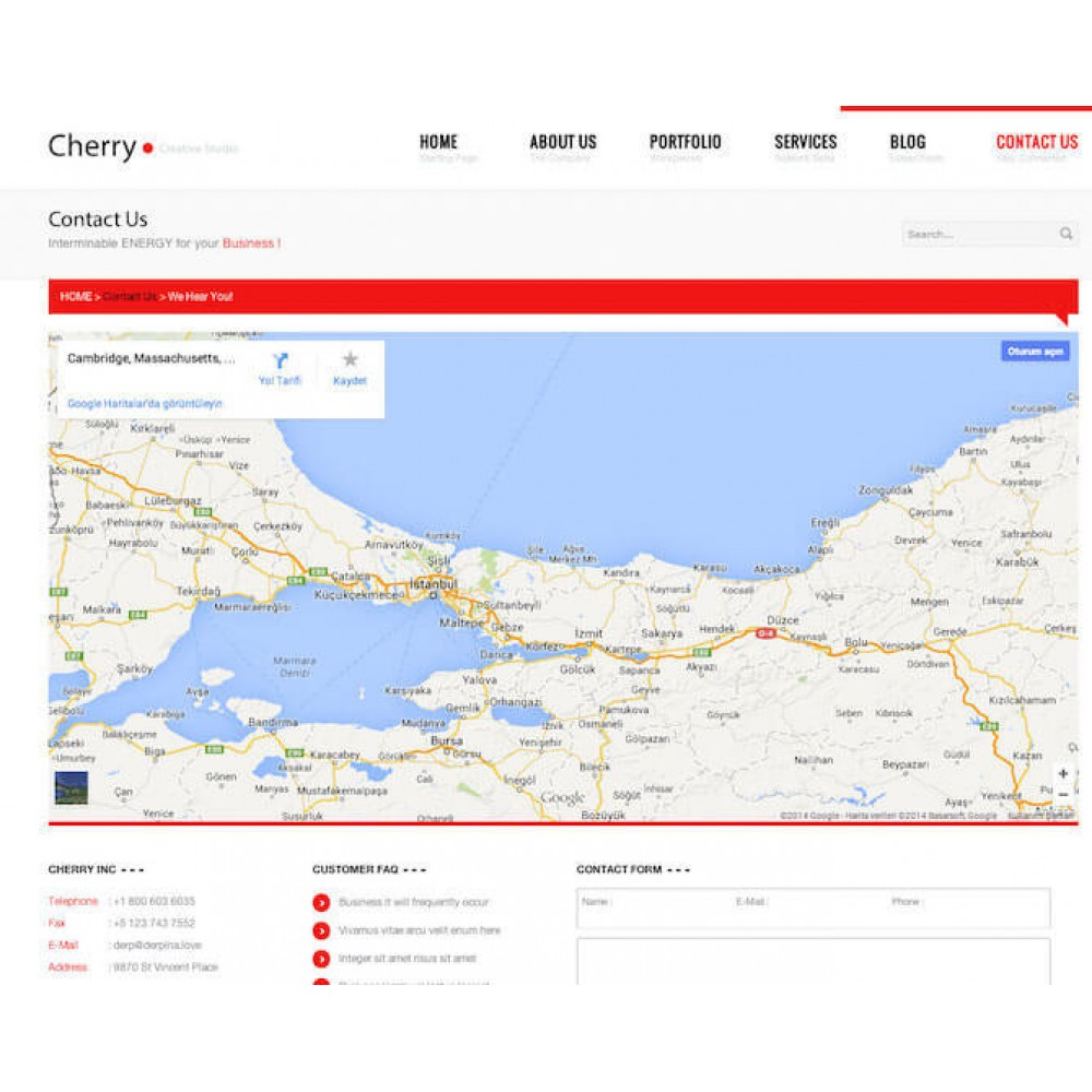 Web Sitesi HTML-CSS Tema CHERRY
