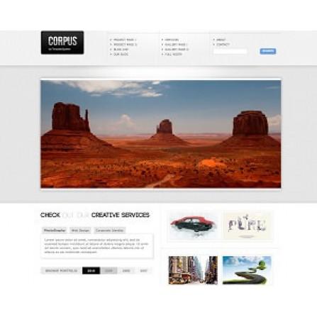 Web Sitesi HTML-CSS Tema CORPUS