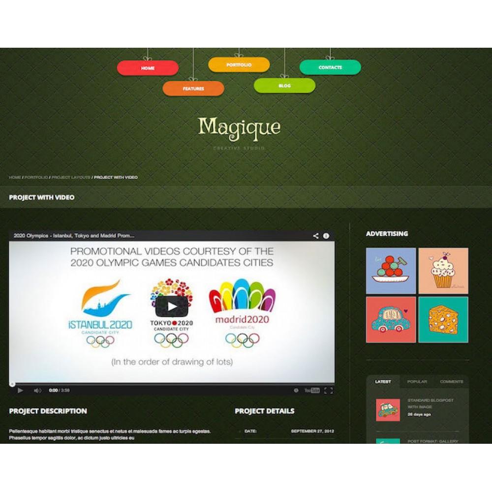 Web Sitesi HTML-CSS Tema MAGIQUE
