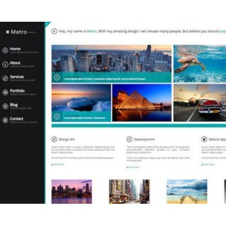 Web Sitesi HTML-CSS Tema METRO