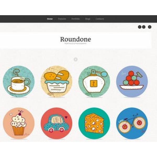 Web Sitesi HTML-CSS Tema ROUNDONE