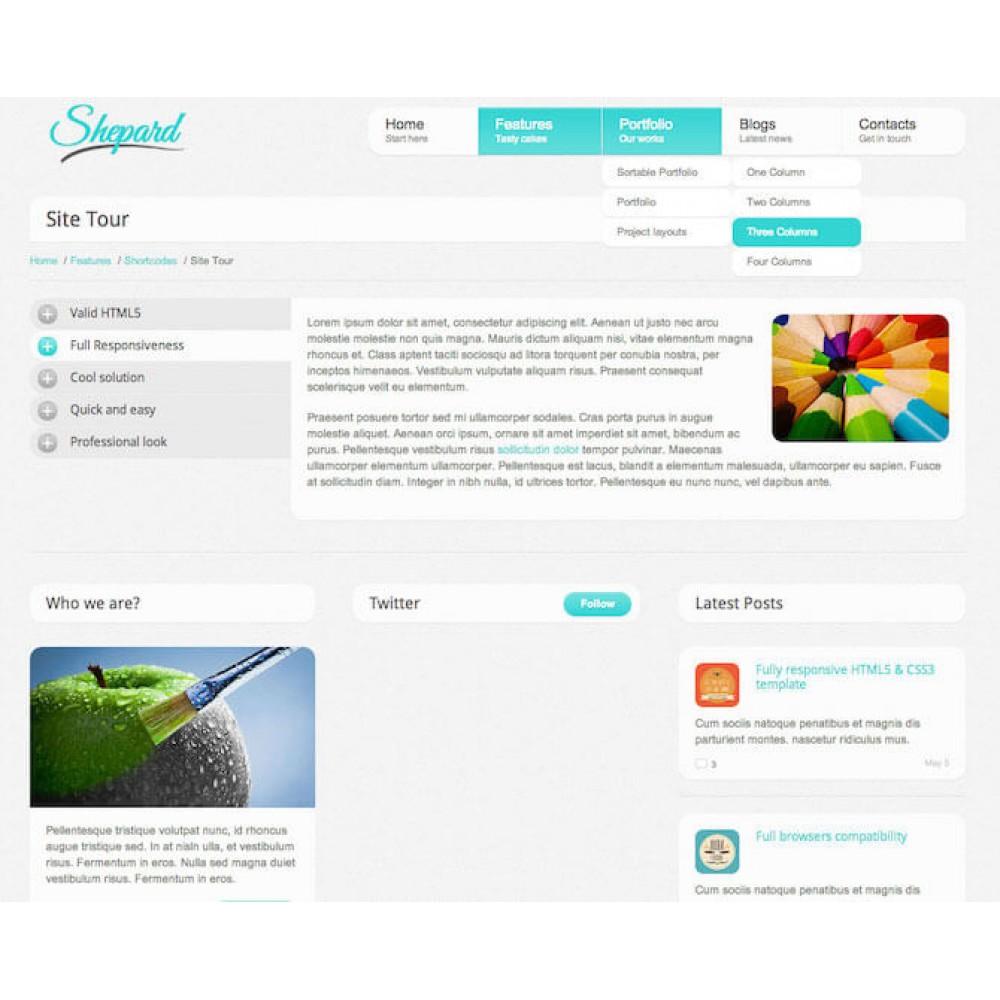 Web Sitesi HTML-CSS Tema SHEPARD