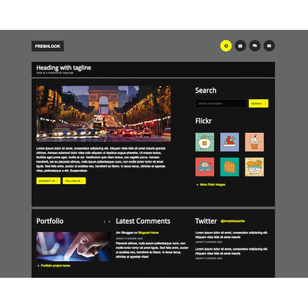 Web Sitesi HTML-CSS Tema FRESHLOOK
