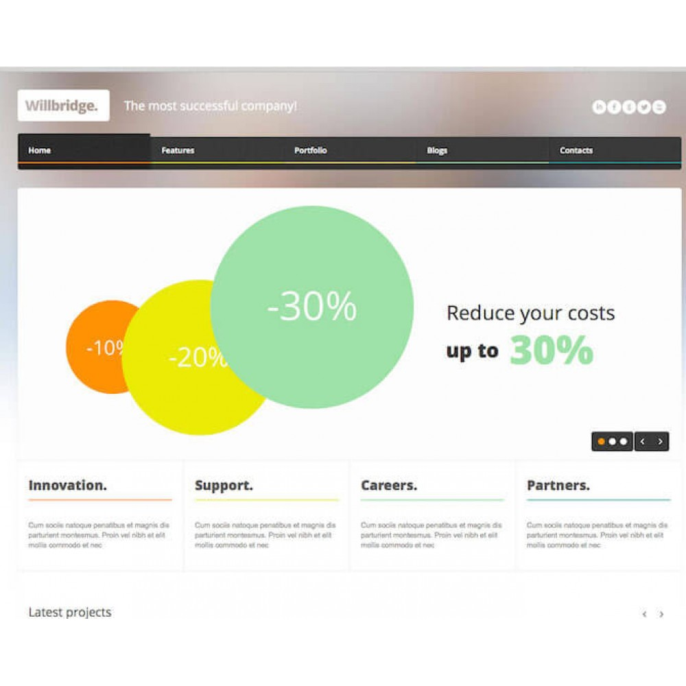 Web Sitesi HTML-CSS Tema WILLBRIDGE