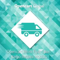 Opencart Belirli Fiyat Üzeri Kargo Bedava Modülü..