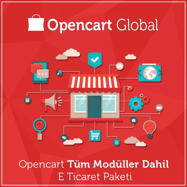 Opencart Tüm Modüller Dahil E Ticaret Paketi
