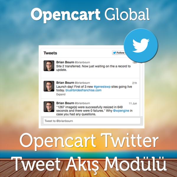Opencart Twitter Tweet Akış Modülü