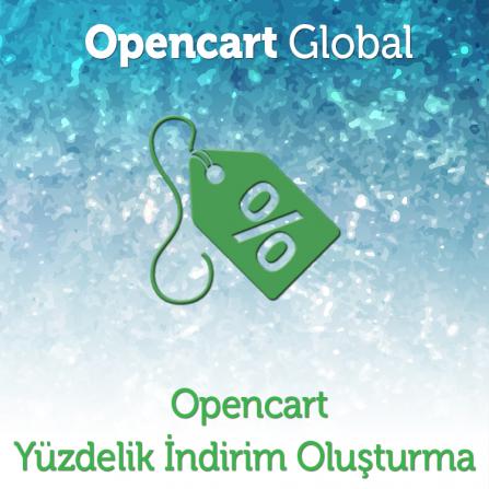 Opencart Yüzdelik İndirim Oluşturma Modülü