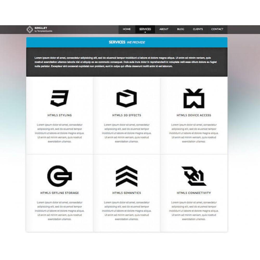 Web Sitesi HTML-CSS Tema Singlet