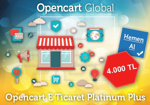 Opencart E Ticaret Platinum Plus