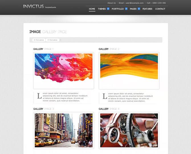 Web Sitesi HTML-CSS Tema INVICTUS