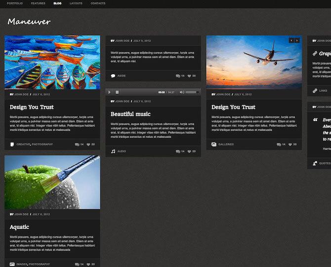 Web Sitesi HTML-CSS Tema MANEUVER