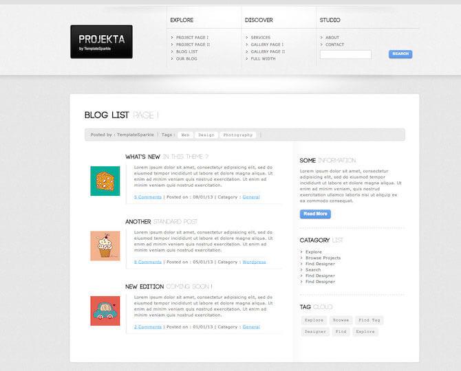Web Sitesi HTML-CSS Tema PROJEKTA