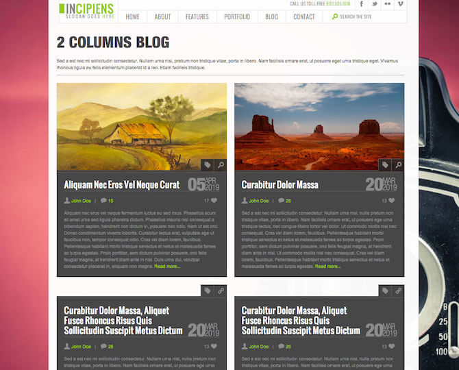 Web Sitesi HTML-CSS Tema INCIPIENS