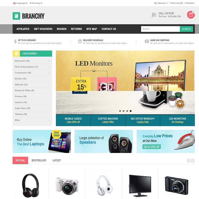 Opencart Alışveriş Teması Branchy