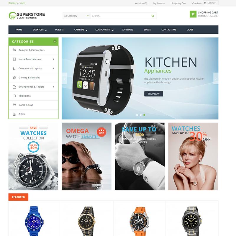 Opencart Saat Alışveriş Teması Superstore